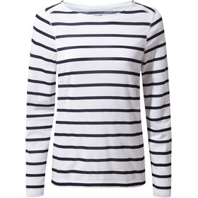 Craghoppers NosiLife Erin II T-shirt à manches longues Femme, blue navy/optic white stripe